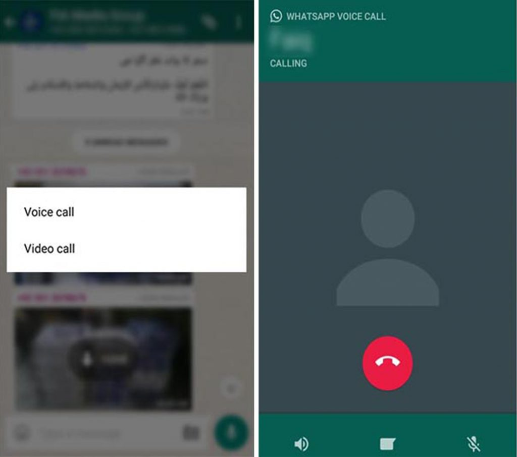 how to video call in whatsapp