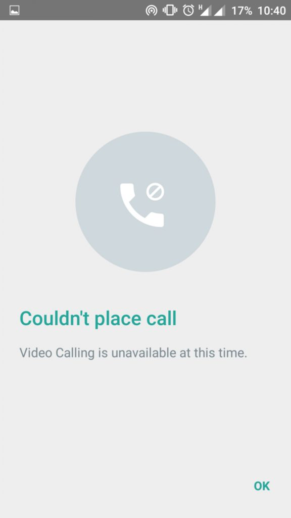 how to make a video call on whatsapp